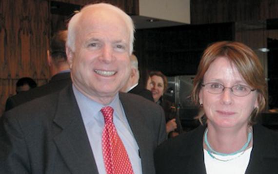 John McCain and the former Executive Director for ILIR Kelly Fincham.