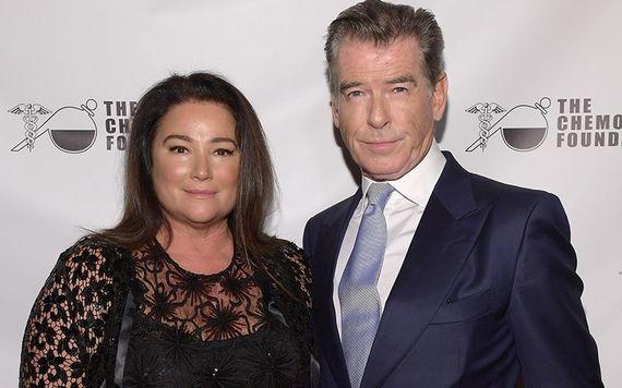Keely Shaye Smith, his second wife and Irish James Bond star, Pierce Brosnan.