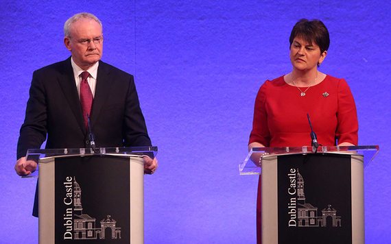 Martin McGuinness and First Minister Arlene Foster.