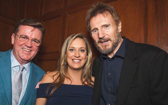 Andy and Caroline Breslin, Liam Neeson.