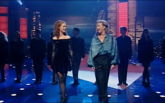 Jean Butler and Michael Flatley, the Irish American stars of Riverdance.