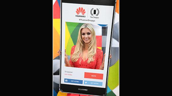 Rosanna Davison helps launch the Huawei Snapys Awards 2016