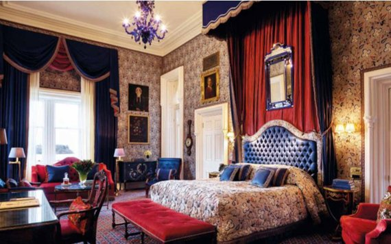 An example of the amazing bedrooms at Ashford Castle.