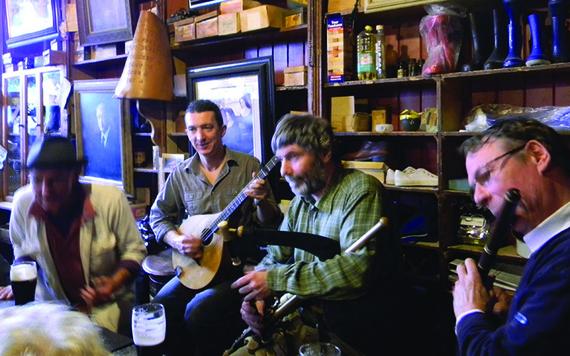 Traditional Irish music.