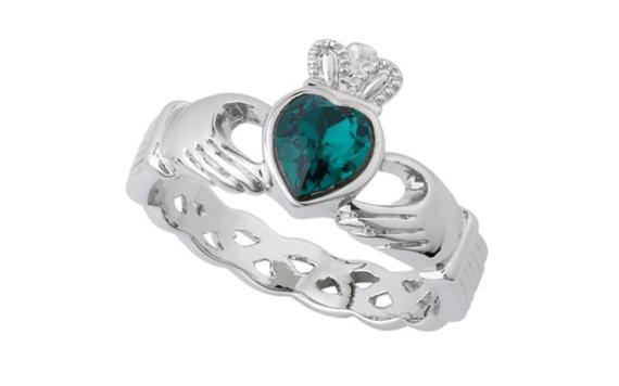 Irish Claddagh Wedding Rings 53 Popular resized floating heart ring