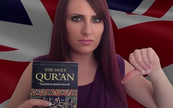 Jayda Fransen appearing in one of her many controversial YouTube videos. Image: YouTube.