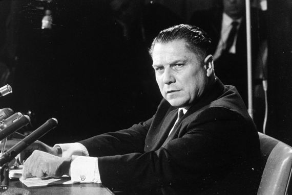 "International Brotherhood of Teamsters (IBT) union leader Jimmy Hoffa whom Frank ""The Irishman"" Sheeran claims to have killed. Image: Getty"