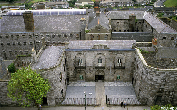 An aerial shot of Kilmainham Goal, in Dublin.