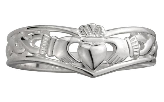 Claddagh Wedding Band 76 Lovely Sterling Silver Claddagh Wishbone