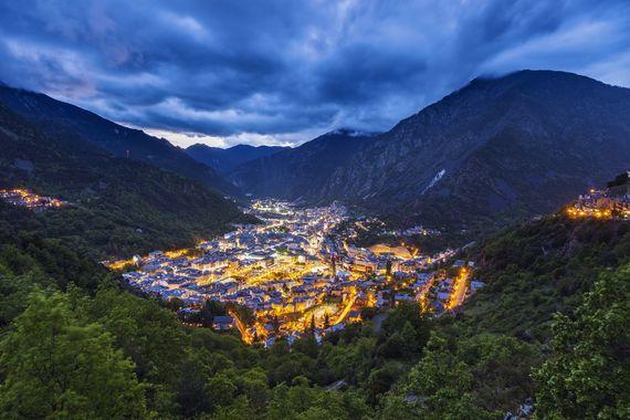 Panorama of Andorra la Vella. Image: Getty.