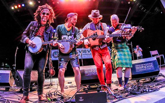 Banjo Three having the craic at the Milwaukee Irish Fest.