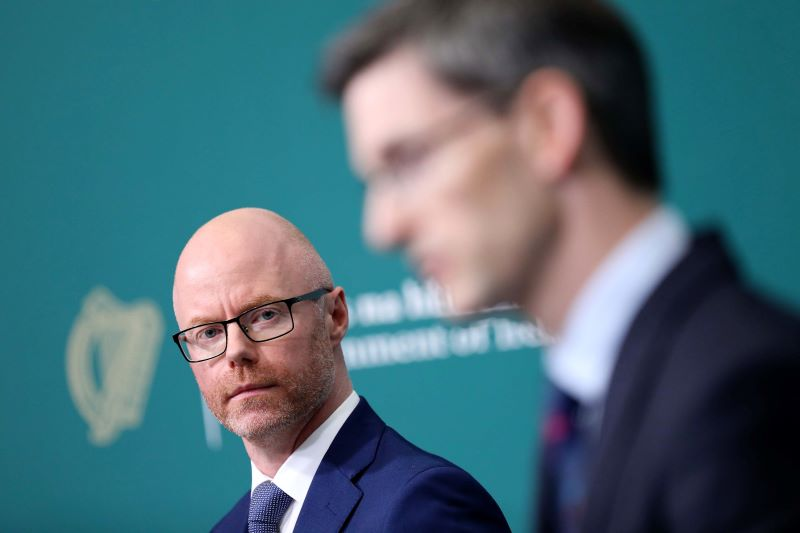 August 21, 2020: Ireland's Minister for Health Stephen Donnelly and Ireland's acting CMO Dr. Ronan Glynn announcing that restrictions will be extended for Co Kildare.